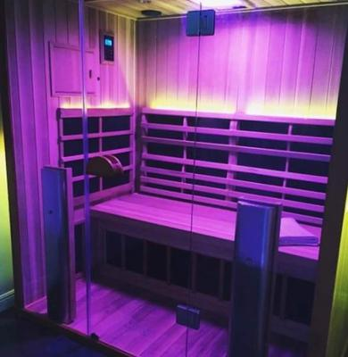 Sanctuary Retreat with violet color therapy turned on