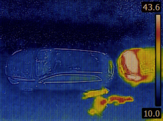 Does Infrared Penetrate Clothing - Car Engine Infrared Heat Camera